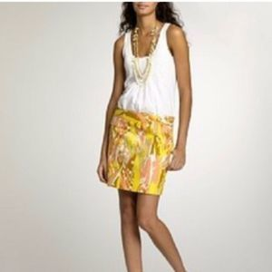 J. Crew Limoncello Abstract Print Mini Skirt 0